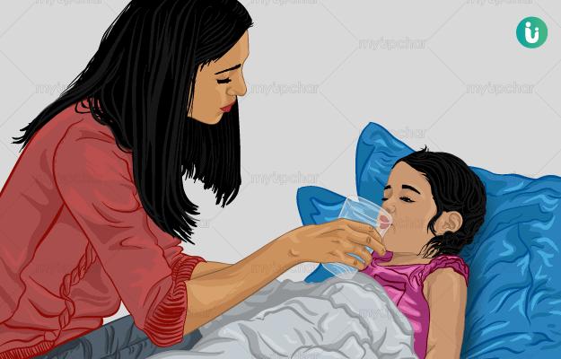 बच्चों में पानी की कमी